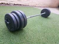 Barbell and stepper