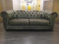 Genuine leather 2 seater chesterfield sofa •free delivery
