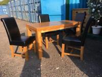 Oak furniture land 4ft dining set