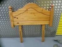 Pine wooden single bed headboard