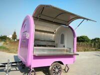 Mobile Catering Trailer Hot Dog Ice Cream Sweets Kiosk Doughnut Cart 2300x2000x2300