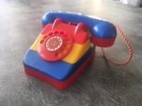 Vintage toy telephone