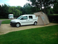 Caddy Maxi Kombi Camper 5 Seater and Drive-away Awning