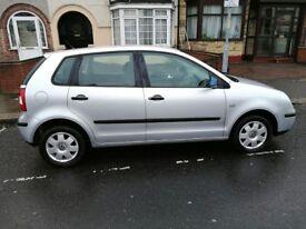 Volkswagen Polo 1.4 Twist Hatchback, 5 Doors 2005, Petrol Manual Silver, Only 66954 miles.£1395