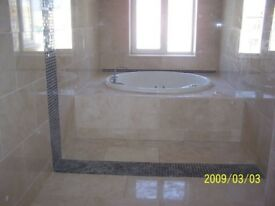 tiling all aspects, all surfaces, all materials, kitchens, bathrooms, plumbing and related jobs