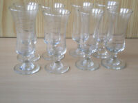 Eight Small Schooner Glasses