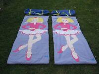 Two Fleece Snuggle Sac Sleeping Bags, ��10.00 each