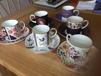 Coalport coffee cup collection