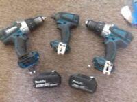 4-5amp battery 2 drill 1 impact