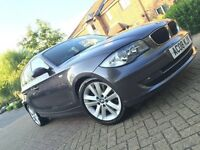 2008 BMW 1 SERIES DIESEL 123D 204 BHP FULL SERVICE HISTORY LOW MILEAGE START/STOP BUTTON