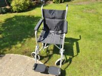 Wheelchair, super lightweight 8.6kg and fits in own travel bag