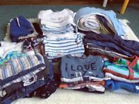Large Bundle of Boys Clothes Age 6-9 Months