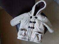 Boys Fleece Duffle coat - 9-12 Months