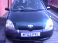 03 TOYOTA YARIS, TWO OWNERS FROM NEW IN VGC