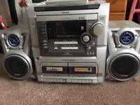 Aiwa z-l100 stereo hifi system with remote and LP player seperates!