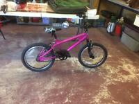 Girls bike fourteen inch