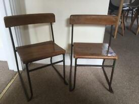 Pair of Vintage Children's Chairs