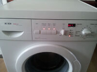 Digital Bosch washing machine. Display, family sized drum. Delivery