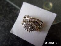 beautiful 9 ct yellow gold 0.25 ct diamond ring set size o.