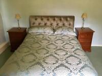 PAIR OF BEDSIDE UNIT / DRAWS ..solid wood mahogany colour