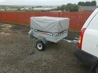 Erde 102 car tipping trailer with extra high cover &spare wheel