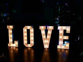Giant LED LOVE letters