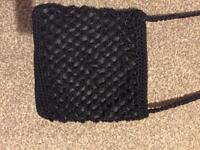 Accessorise Black Beaded Crossbody Bag