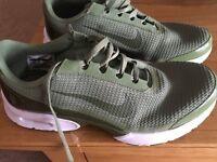 Nike khaki green trainers