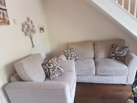 Beige 2 seat sofa + single chair