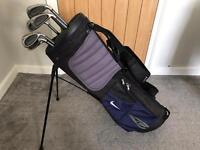 Golf Clubs - Wilson Iron set + Golf Bag (Nike), PW and SW