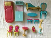 Selection of barbie furniture
