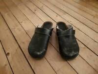 Blue Danish Clogs size 7