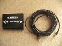 line6 / Line 6 FBV2 , 2-Way Foot Controller Amplifier Footswitch for POD / BASS POD , XT , XT Pro.