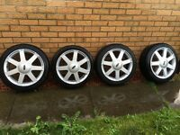 "Original 16"" Ford Fiesta alloy wheels plus tyres 195 45 16"