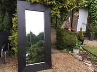 LARGE SOLID WOOD MIRROR ..190 cms x 95cms