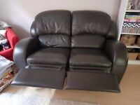 Dual Reclining 2 Seater Sofa - Faux Leather