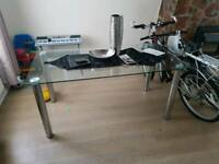 Glass dinning table no chairs