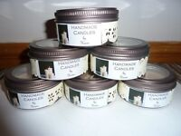 Vanilla Candles in tins ***REDUCED TOCLEAR!!!!***