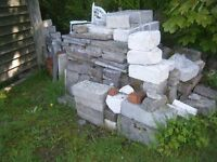 Used Blocks, breeze blocks and walling odds and ends also walling stone