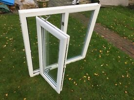 White UPVC double glazed window. 1040mm wide x 1065mm high inc sill. Buyer collects.