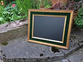 Gold chalkboard gold green velvet chalkboard antique framed chalkboard