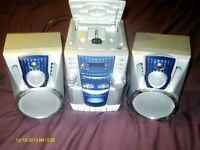 BUSH CD/RADIO/CASSETTE STEREO SYSTEM WITH 2 SPEAKERS