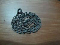 3 metres galvanised chain and screw shackle.