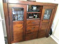 Solid Mango wood furniture. Table chairs sideboard bookcase tall boy
