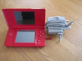 Nintendo DS console in red very nice condition all original + charger