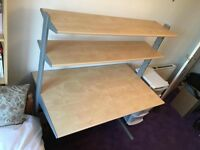 Desk with two shelves