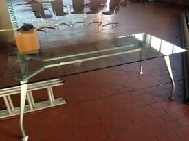 modern glass table office or home