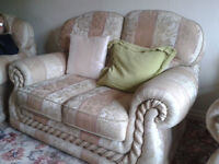 Two Seater 3 Piece Suite & matching Storage pouffee Seat