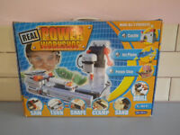 Real Power Workshop. For Children. 6 in 1 power tool bench. Saw, Turn, Drill, Shape, Clamp, Sand