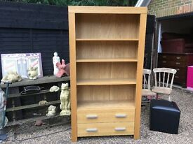 Tall bookcase with draw excellent condition .......